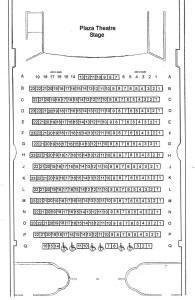 Plaza Seating Chart